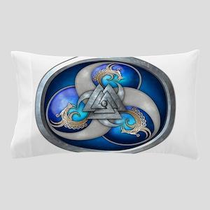 Blue Norse Triple Dragons Pillow Case