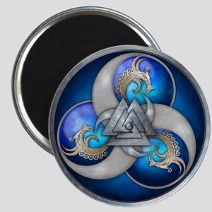 Blue Norse Triple Dragons Magnet