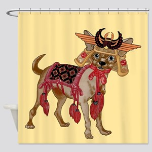 Samurai Chihuahuatrns Shower Curtain