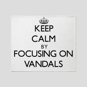 Keep Calm by focusing on Vandals Throw Blanket