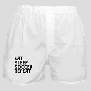 Eat Sleep Soccer Repeat Boxer Shorts