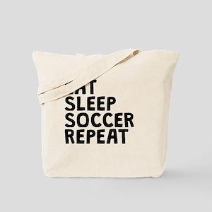 Eat Sleep Soccer Repeat Tote Bag