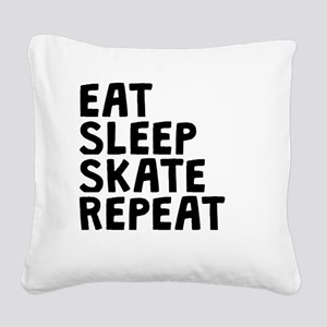 Eat Sleep Skate Repeat Square Canvas Pillow