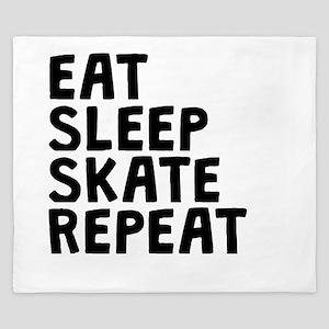 Eat Sleep Skate Repeat King Duvet