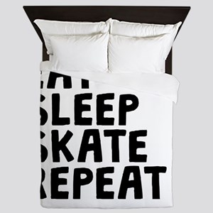 Eat Sleep Skate Repeat Queen Duvet