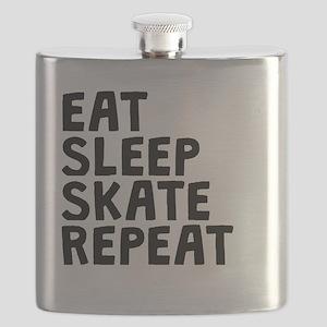 Eat Sleep Skate Repeat Flask
