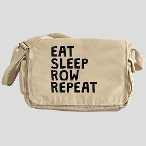 Eat Sleep Row Repeat Messenger Bag