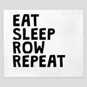 Eat Sleep Row Repeat King Duvet