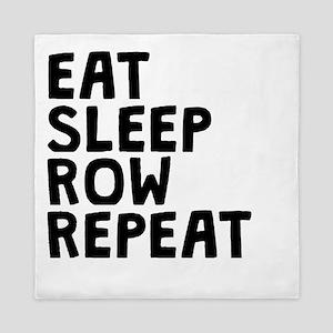 Eat Sleep Row Repeat Queen Duvet