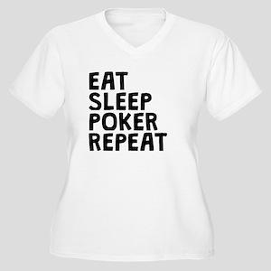 Eat Sleep Poker Repeat Plus Size T-Shirt