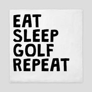 Eat Sleep Golf Repeat Queen Duvet
