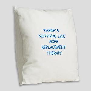 divorce Burlap Throw Pillow
