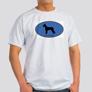 Giant Schnauzer (oval-blue) Light T-Shirt