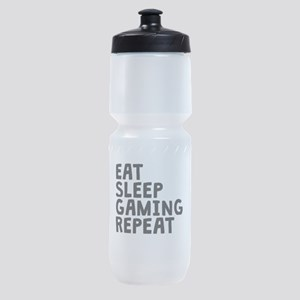 Eat Sleep Gaming Repeat Sports Bottle