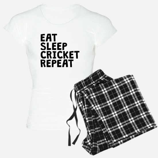 Eat Sleep Cricket Repeat Pajamas