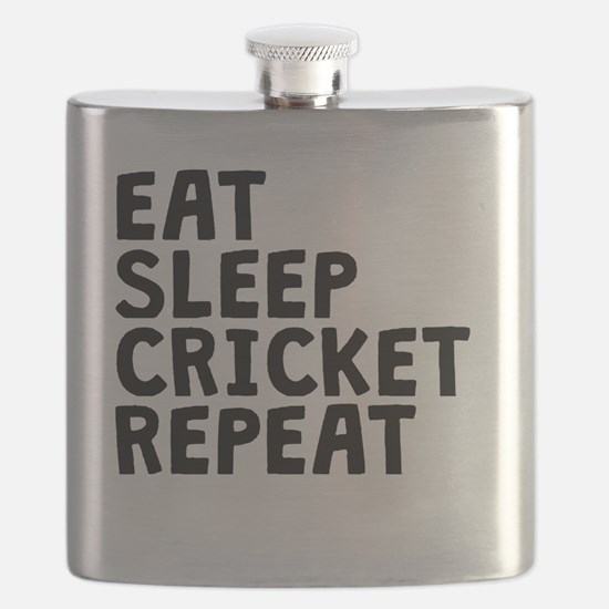 Eat Sleep Cricket Repeat Flask