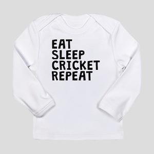Eat Sleep Cricket Repeat Long Sleeve T-Shirt