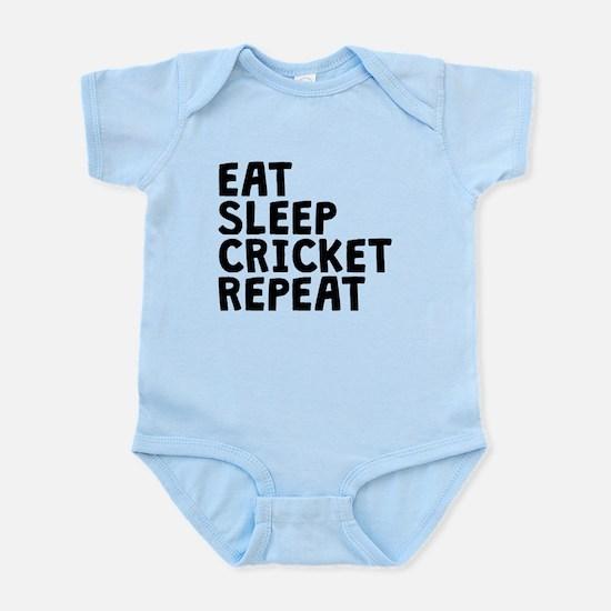 Eat Sleep Cricket Repeat Body Suit