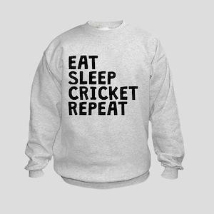Eat Sleep Cricket Repeat Sweatshirt