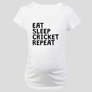 Eat Sleep Cricket Repeat Maternity T-Shirt
