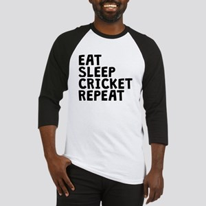 Eat Sleep Cricket Repeat Baseball Jersey