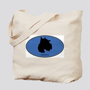 Schnoodle (oval-blue) Tote Bag