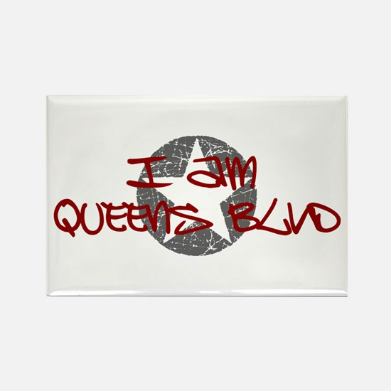 I am Queens Blvd - Red Rectangle Magnet