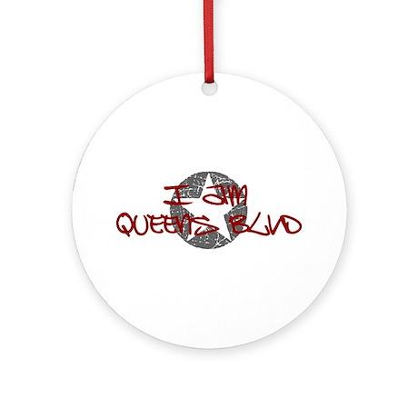 I am Queens Blvd - Red Ornament (Round)