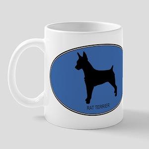 Rat Terrier (oval-blue) Mug