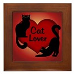 Fat Cat & Cat Lover Framed Tile