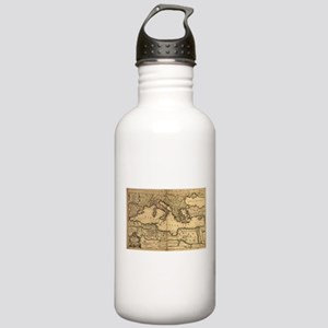 Vintage Map of The Med Stainless Water Bottle 1.0L
