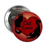 "Fat Cat & Cat Lover 2.25"" Button (10 pack)"