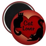 "Fat Cat & Cat Lover 2.25"" Magnet (100 pack)"