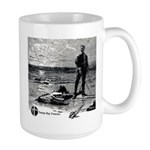 Large Mug with Classic Sunset Duel Print