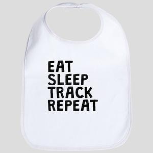 Eat Sleep Track Repeat Bib