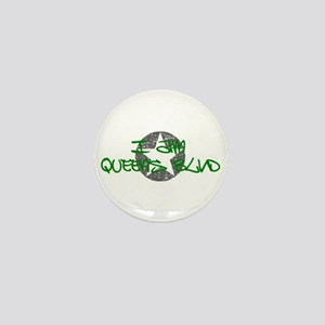 I am Queens Blvd - Grn Mini Button