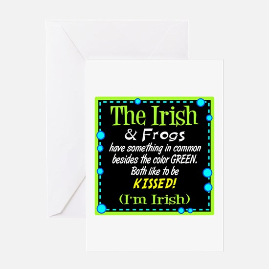 Irish and Frogs Greeting Cards