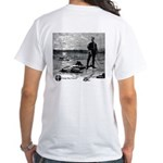 White T-Shirt with Sunset Duel