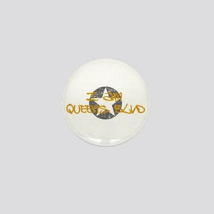 I am Queens Blvd - Gold Mini Button