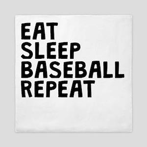 Eat Sleep Baseball Repeat Queen Duvet