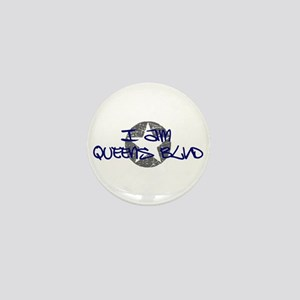 I am Queens Blvd - Blue Mini Button