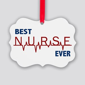 Best Nurse Ever Picture Ornament