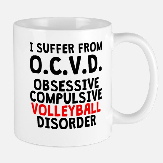 Obsessive Compulsive Volleyball Disorder Mugs