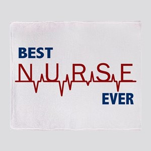 Best Nurse Ever Throw Blanket