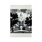 Visit Philadelphia on the PRR Rectangle Magnet