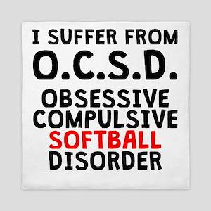 Obsessive Compulsive Softball Disorder Queen Duvet