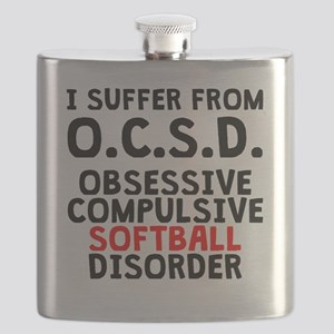 Obsessive Compulsive Softball Disorder Flask