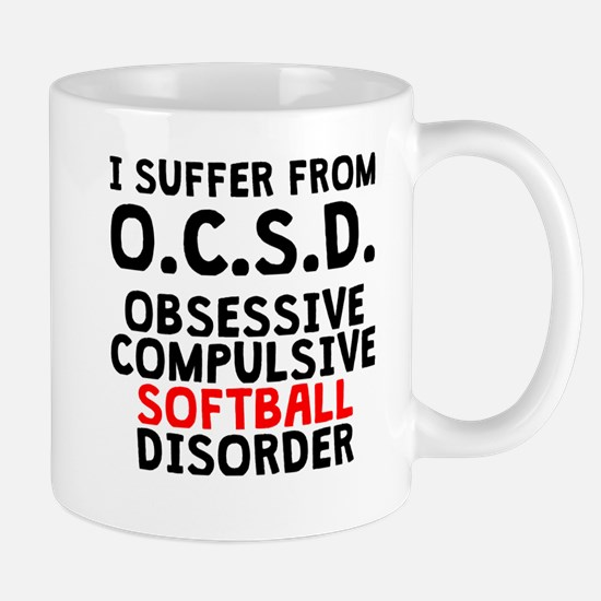 Obsessive Compulsive Softball Disorder Mugs