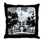 Visit Philadelphia on the PRR Throw Pillow