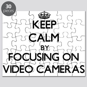 Keep Calm by focusing on Video Cameras Puzzle